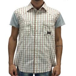 Olyo καρό πουκάμισο 1636 (Μπορντώ) 3ba9f4d28e4
