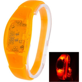 Fashion Sound Activated LED Silicone Bracelet(Orange) SK467592
