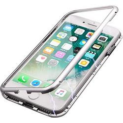 43ab9d5e38 Μαγνητική Θήκη 360 για iPhone 6   6s με Διάφανη Πλάτη και Μεταλλικό Πλαίσιο  - Ασημί