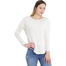 30608509bb53 Γυναικεία λευκή ασσύμετρη μπλούζα Cocktail 014101007N