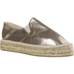 54119c1fe03 Γυναικεία Loafers από Ύφασμα της Smart Shoes Ύψους 4 cm Χρώμα Χρυσό κωδ.  S32-