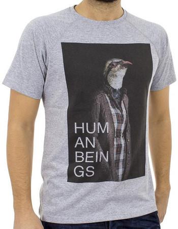 Ανδρικό Κοντομάνικη Μπλούζα T-shirt SANTANA SS18-1-57 ανοιχτό Γκρι 3137e4d6ac7