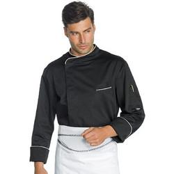 2ba540fc0378 Σακάκι Μαγειρικής Ανδρικό Chef Μαύρο Μακρυμάνικο Με Press Button - PRETORIA