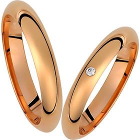 Βέρες γάμου σε ρόζ χρυσό με διαμάντι dc1d2e940e8