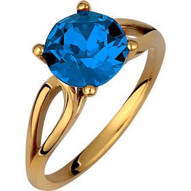 Μονόπετρο δαχτυλίδι σε ασήμι 925 με σκούρη μπλέ πέτρα SWAROVSKI  AD-V16101BLSG1 06bdd21d025