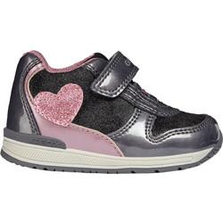 Geox βρεφικά sneakers Baby Rishon Girl - B840LB - Γκρι f8be7547b1b