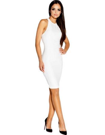 60022 DR Μίνι εξώπλατο ελαστικό φόρεμα -Εκρού 737595feadb