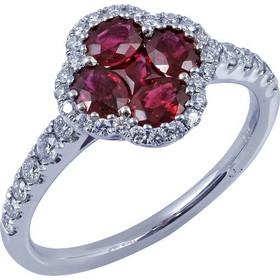 Δαχτυλίδι 18κ Λευκόχρυσο Με Ρουμπίνια Και Διαμάντι 5869858123f