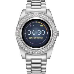 Γυναικείο Smartwatch Χρώματος Ασημί με Μεταλλικό Μπρασελέ και Κρύσταλλα  Swarovski(R) Timothy Stone SW 6634eead74b