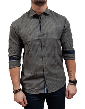 d1ab6ce51185 Dash dot - 8420 - Grey - Slim Fit - Πουκάμισο. Dash   Dot