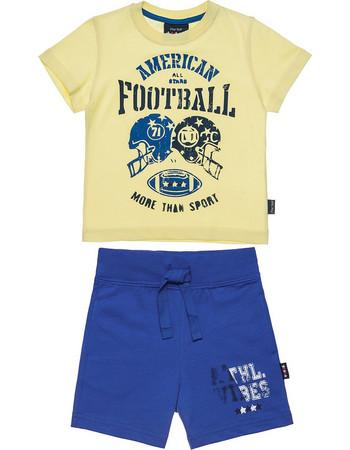 060bee58ae6 Αlouette παιδικό σετ φόρμας μπλούζα με τύπωμα Football και βερμούδα Five  Star (12 μηνών-