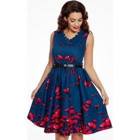 5347527fc913 Vintage φόρεμα Daria floral μπλε