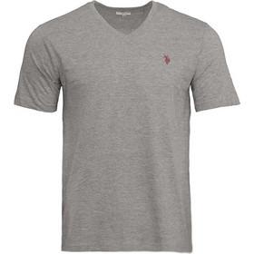 5ef7ebfcffd8 Ανδρικό T-Shirt με V Λαιμόκοψη Χρώματος Γκρι US.POLO ASSN