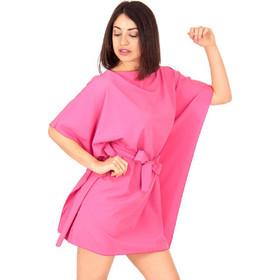 b5b588c006cd Φούξια Mini Φόρεμα με Ζωνάκι Φούξια Silia D
