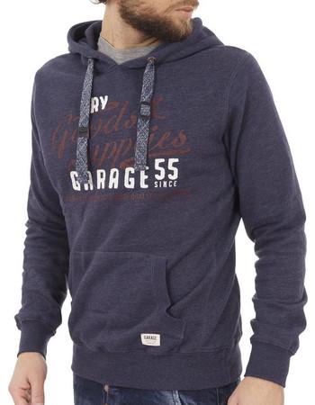 e18012d87fbd Ανδρικό Μπλούζα Φούτερ με Κουκούλα Hoodie Garage55 GAM216-06217 ανοιχτό Μωβ