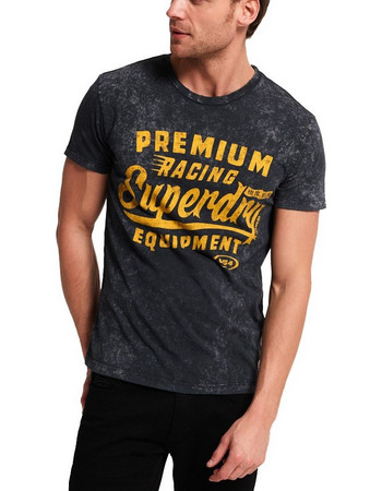 800bfbb80d48 T-SHIRT SUPERDRY D1 PREMIUM EQUIPMENT ΜΑΥΡΟ APM10004HQ-YKF