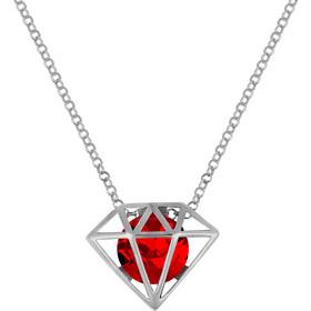 Κολιέ διαμάντι σε ασήμι 925 με κόκκινη πέτρα SWAROVSKI AK-Z5444KL1 02dab19987b