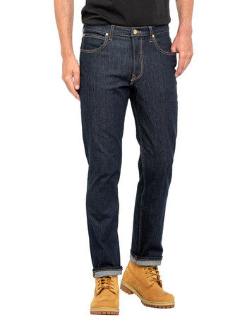 19fc456ee00f Lee Brooklyn Straight regular straight ανδρικό τζην παντελόνι Rinse -  L452JJDP - Μπλε Σκούρο
