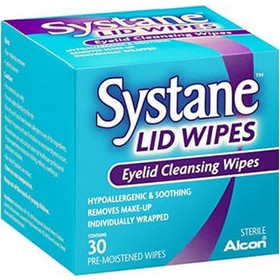 Alcon Systane Lid Wipes Μαντηλάκια Καθαρισμου των Βλεφάρων 30wipes