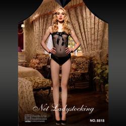 f04261760b6 Διχτυωτό Σέξι Κορμάκι Στράπλες με Φιόγκο στο Μπούστο 8818 - Sexy Lingerie  Bodystockings