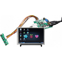 HDMI 4 Pi: 5 Display w/Touch and Mini Driver - 800x480 HDMI for Raspberry Pi