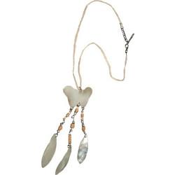 Κολιέ χειροποίητο φίλντισι πεταλούδες με δέρμα μπέζ σέτ με σκουλαρίκια e0ba6006889