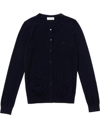 Lacoste γυναικεία ζακέτα μονόχρωμη με τσέπες - AF8787 - Μπλε Σκούρο ce2128993ff