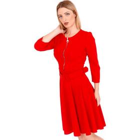 950d3425fc0c Κόκκινο Midi Φόρεμα με Φερμουάρ Κόκκινο Silia D