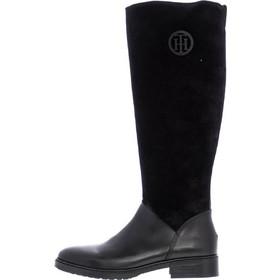 4d30296b75 Μπότες Hatty5C Μαύρο Δέρμα Καστόρι Tommy Hilfiger