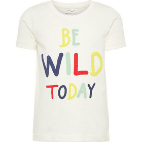 b08fa33512d Name It Παιδικό T-shirt με τύπωμα Be Wild Today - 13164837 - Λευκό