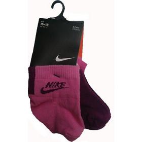 b4350b6607c Παιδικές Bebe Κάλτσες Νike 3pairs Ροζ/Λευκό/Μπορντό
