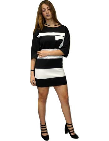 Φορεμα lynne 030-511031 Ασπρό-μαυρο Lynne e1aa75fdd41