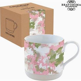 Bravissima Kitchen - Φλιτζάνι με Κουτί Πορσελάνη Καμουφλάζ Ροζ by  Bravissima Kitchen b4946247168