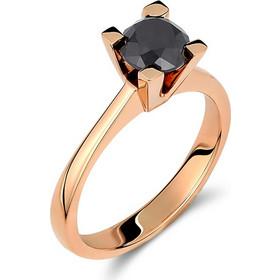 Μονόπετρο δαχτυλίδι από ροζ χρυσό 18 καρατίων με μαύρο διαμάντι 1.31ct.  PL010RB 9130ca23bdb