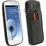 Krusell Zipper Leather Classic Black / Grey (Galaxy S III)