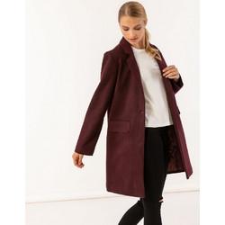Παλτό σε ανδρικό στυλ με τσέπες μπροστά - Μπορντώ a1f09d49ca6