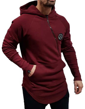 43983fef1658 Vinyl Art - 12575 - Zip Through Hoodie - Bordeaux - Φούτερ