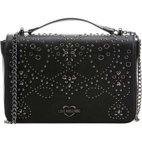 Love Moschino γυναικεία τσάντα crossbody με μεταλλικά στοιχεία -  JC4123PP17LR0 - Μαύρο 9938d5d094e