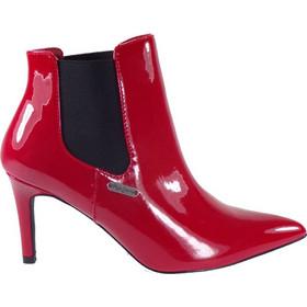 67ef078c28 Pepe Jeans WELLS CHELSEA Γυναικεία Μποτάκια PLS50317-244 Κόκκινο Λουστρίνι  45300