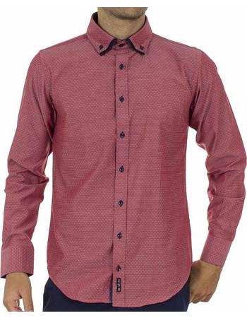 5bb7b15c026d Ανδρικό Μακρυμάνικο Πουκάμισο CND Shirts 700-6 σκούρο Ροζ
