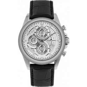 Jacques Lemans Liverpool Black Leather Chronograph 1-1847B 8661c738207