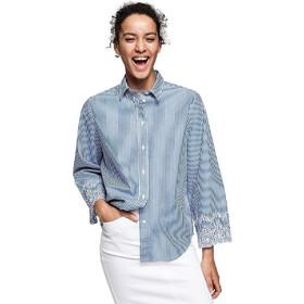 fc2177784fb Gant γυναικείο πουκάμισο με λεπτομέρειες δαντέλας Loose fit - 4311065 - Μπλε