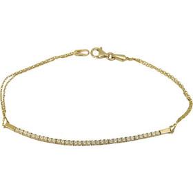 Γυναικείο βραχιόλι ριβιέρα χρυσό 14 Κ με ζιργκόν 023791 023791 Χρυσός 14  Καράτια a205db51600
