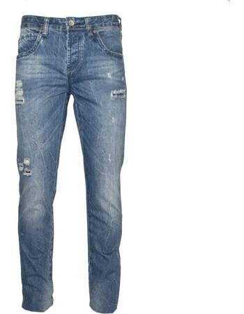 71302-11 Ανδρικό τζήν παντελόνι με σκισίματα - μπλέ. Van Hipster cde40fafc84