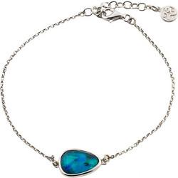 Βραχιόλι Μεταλλικό Με Μικρό Μπλε Φίλντισι Και Κρύσταλλα Oxette 51cbf791479
