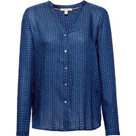 b00cd8a8d9f5 Esprit γυναικείο πουκάμισο με V λαιμόκοψη και μικροσχέδιο - 019EE1F005 - Μπλε  Σκούρο