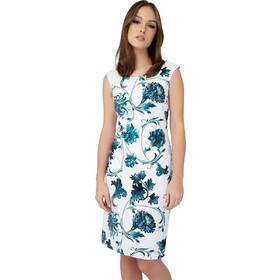 11f957fd518d Billy Sabbado γυναικείο αμάνικο pencil φόρεμα με floral prin - 0208907166 -  Λευκό