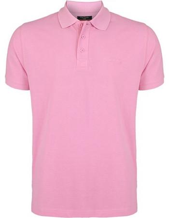 19dc48303e3d Pierre Cardin Ανδρικό μπλουζάκι polo T-Shirt με κοντό μανίκι και κουμπιά σε  Ροζ χρώμα