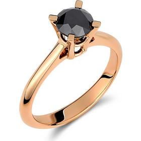 Μονόπετρο δαχτυλίδι από ροζ χρυσό 18 καρατίων με μαύρο διαμάντι 1.23ct.  PL063RB 6b05526a153