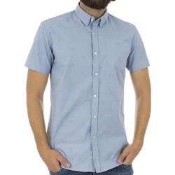 Ανδρικό Κοντομάνικο Πουκάμισο Slim Fit Aloha Oxford Shirt DOUBLE GS-463S  Γαλάζιο f9b371cf62d
